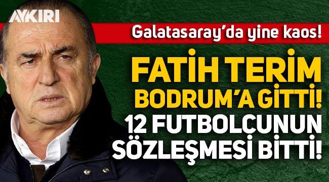 Galatasaray'da yine kaos! Fatih Terim Bodrum'a gitti, 12 futbolcunun sözleşmesi bitti