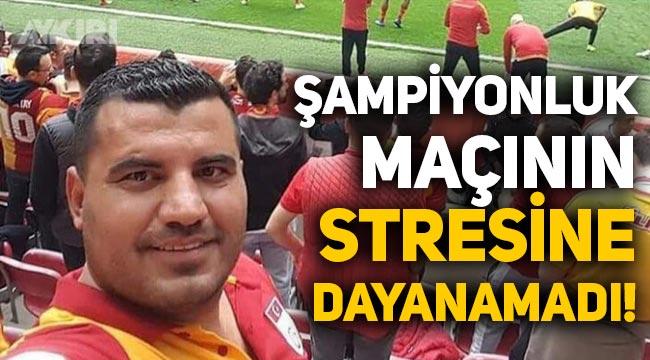 Galatasaray taraftarı, şampiyonluk maçının stresine dayanamadı!