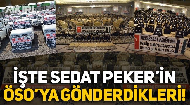 İşte Sedat Peker'in Suriye'ye TIR'larla gönderdiği o askeri yardımlar!