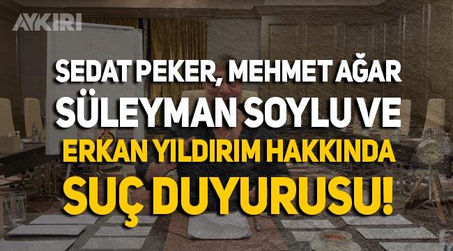 İzmir Barosu'ndan Sedat Peker, Süleyman Soylu, Mehmet Ağar ve Erkan Yıldırım hakkında suç duyurusu!