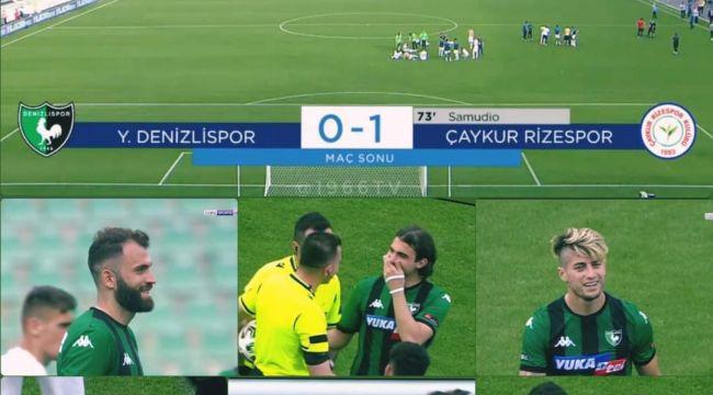 Küme düşmesi kesinleşen Denizlisporlu futbolcuların maç sonu mutlulukları tartışma yarattı