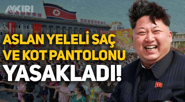 Kuzey Kore'de Kim Jong Un, kot pantolon ve aslan yelesi saçı yasakladı