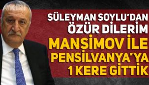 Mehmet Ağar, Süleyman Soylu'dan özür diledi! Mansimov ile Pensilvanya'ya gittiğini açıkladı
