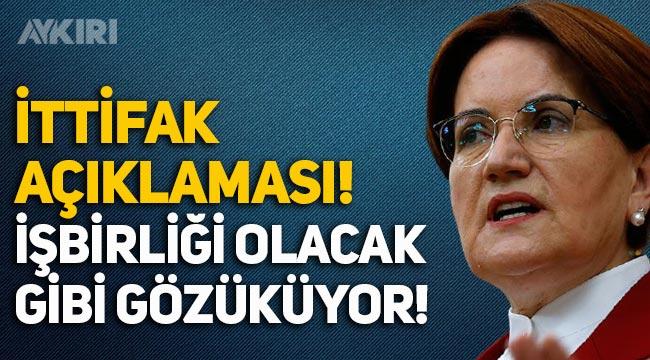 Meral Akşener'den ittifak açıklaması: DEVA ve Gelecek Partisi ile işbirliği!