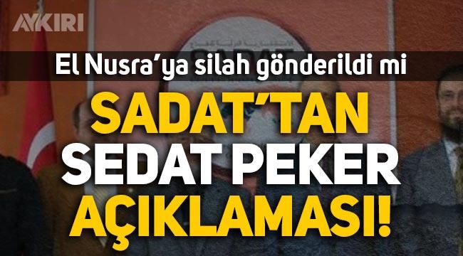 """SADAT'tan Sedat Peker'in """"El Nusra'ya silah gönderildi"""" iddiasına açıklama"""