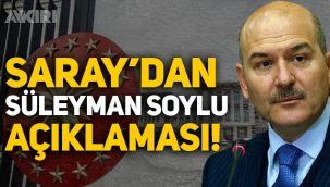 Sedat Peker'in iddialarının ardından Saray'dan Süleyman Soylu açıklaması!