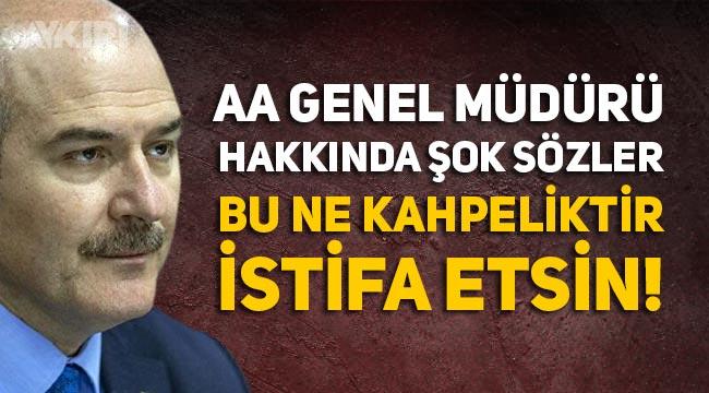 Süleyman Soylu'nun danışmanı AA Genel Müdürünü istifaya davet etti