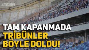 Tam kapanmada Adana Demirspor tribünleri doldu!