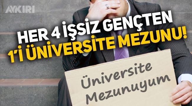 Türkiye'de her 4 işsiz gençten 1 tanesi üniversite mezunu!