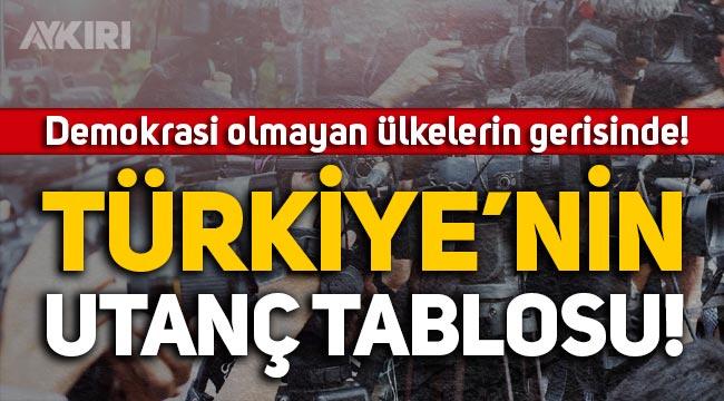 Türkiye'nin utanç tablosu: Basın özgürlüğünde demokrasi olmayan ülkelerin gerisinde!