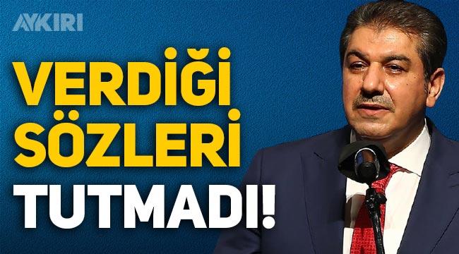 AKP'li Tevfik Göksu, belediyesinde verdiği sözlerin hiçbirini tutmadı!
