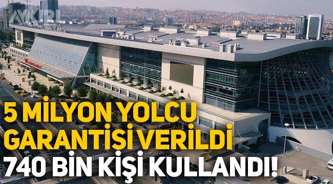 Ankara Hızlı Tren Garı'na 5 milyon yolcu garantisi verildi, 740 bin kişi kullandı!