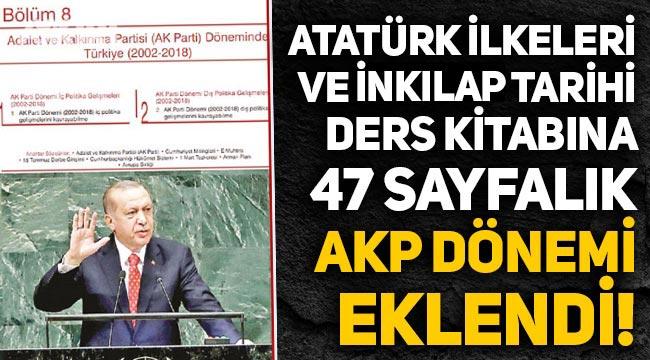 Atatürk İlkeleri ve İnkılap Tarihi dersine AK Parti ve Erdoğan bölümü eklendi, sorular soruldu!