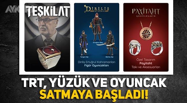 Devletin kanalı TRT, dizi oyuncak ve kupaları satmaya başladı