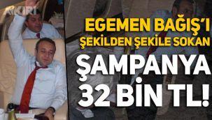 Egemen Bağış'ın devletin uçağında içtiği şampanyanın değeri 32 bin lira!