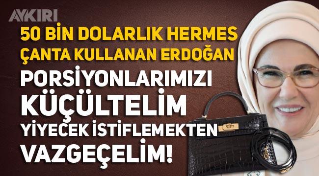"""Emine Erdoğan: """"Porsiyonlarımızı küçültelim, yiyecek istiflemekten vazgeçelim"""""""