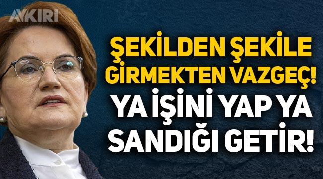 """Meral Akşener, Erdoğan'a sert tepki gösterdi: """"Ya işini yap, ya da sandığı getir!"""""""