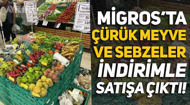 Migros'ta çürük meyve ve sebzeler indirimle satışa çıktı!