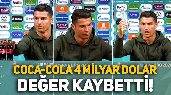 Ronaldo'nun hareketi, Coca-Cola'ya 4 milyar dolar değer kaybettirdi!