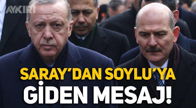 """Saray'dan Süleyman Soylu'ya giden mesaj: """"Soylu ve ekibi için çanlar çalıyor!"""""""