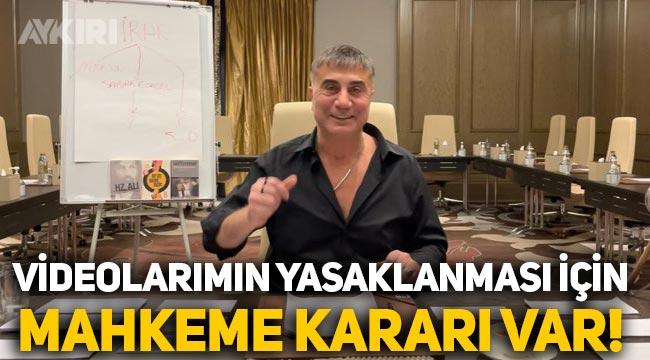 """Sedat Peker açıkladı: """"Sosyal medya hesaplarımın kapatılması için mahkeme kararı var!"""""""