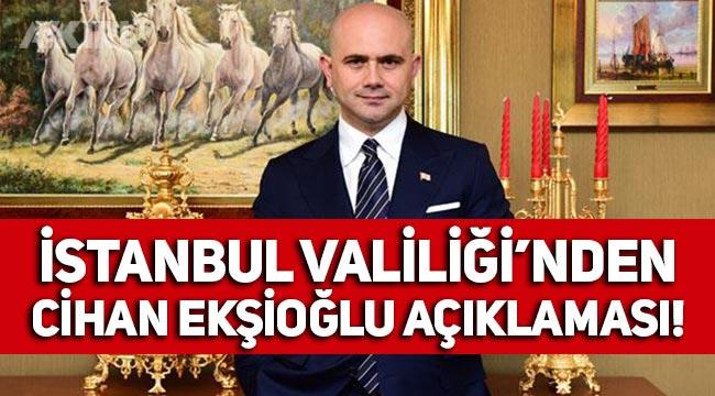 Sedat Peker'in Cihan Ekşioğlu iddiaları sonrasında İstanbul Valiliği'nden açıklama!