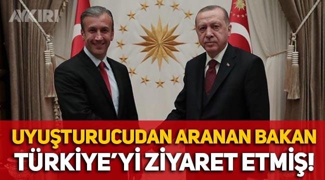Uyuşturucu ticaretinden aranan Venezuelalı bakan, Türkiye'yi ziyaret etmiş!