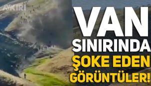Van sınırında şok görüntüler: Türkiye'ye yüzlerce kaçak geçiş!