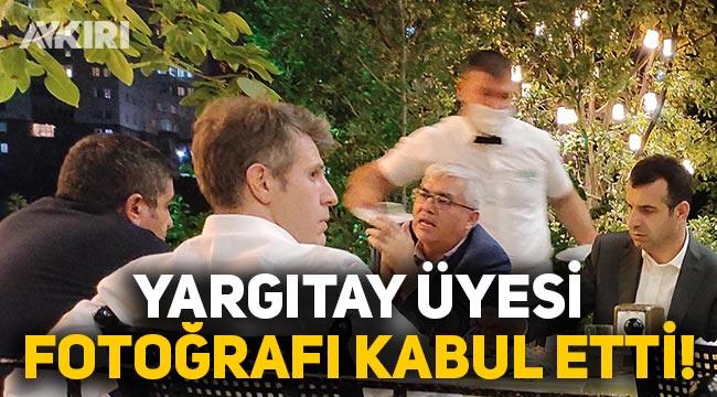 Yargıtay üyesi Sezgin Baran Korkmaz ile olan fotoğrafını kabul etti