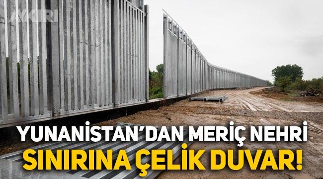 Yunanistan, Suriyeliler gelmesin diye Meriç Nehri sınırına çelik çit inşaa ediyor!