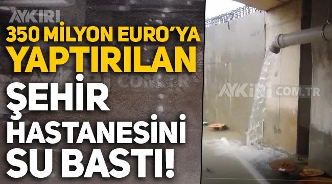350 milyon euro harcanan Kocaeli Şehir Hastanesi'ni su bastı!