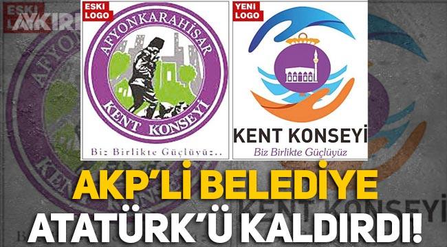 AKP'li Afyonkarahisar Belediyesi, Atatürk'ün silüetini logodan kaldırdı!