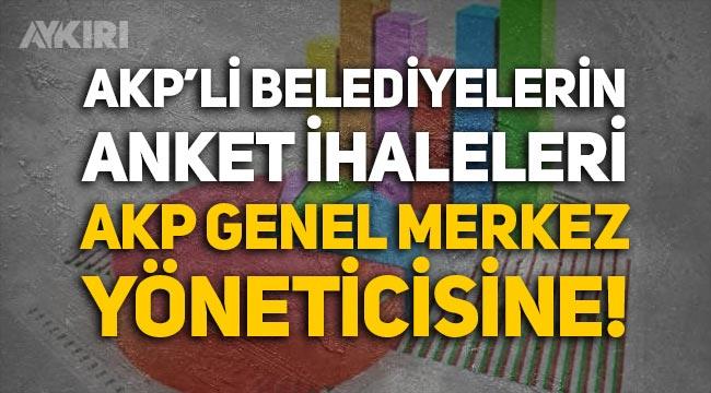 AKP'li belediyelerin anket ihaleleri AKP Genel Merkez yöneticisi Emre Cemil Ayvalı'ya gitmiş!