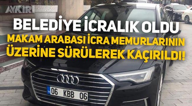 AKP'li Keçiören Belediye Başkanı Turgut Altınok'un makam arabası hacizden kaçırıldı!
