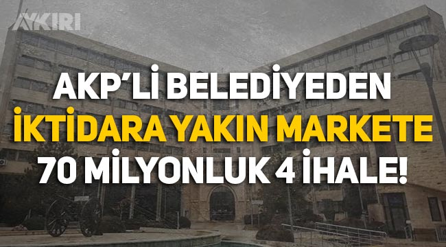 AKP'li Konya Belediyesi'nden iktidara yakın şirkete 70 milyonluk 4 ihale
