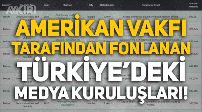 Amerikan vakfı tarafından fonlanan Türkiye'deki medya kuruluşları!
