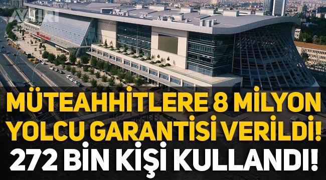 Ankara Hızlı Tren Garı'na 8 milyon yolcu garantisi verildi, 272 bin kişi kullandı!