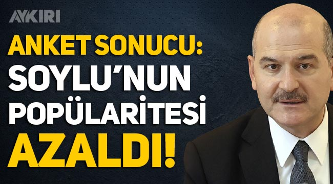 Anket: Süleyman Soylu'nun beğenilme oranı azaldı, MHP'de büyük düşüş!