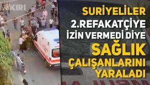 Batman'da ambulansa saldıran Suriyeliler böyle görüntülendi