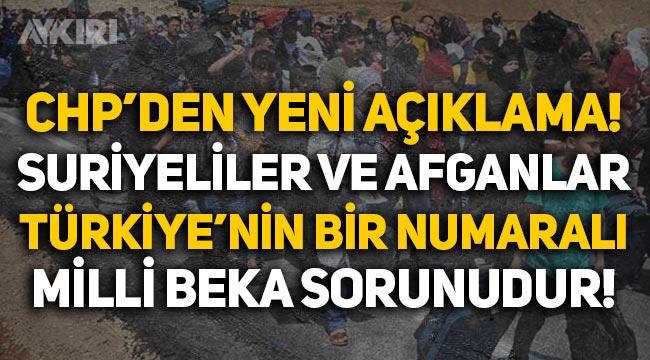 """CHP'li Engin Özkoç: """"Suriyeliler ve Afganlar, Türkiye'nin bir numaralı milli beka sorunudur"""