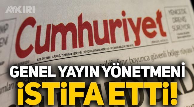 Cumhuriyet gazetesi Genel Yayın Yönetmeni Aykut Küçükkaya istifa etti!
