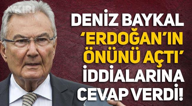 """Deniz Baykal'dan """"Erdoğan'ın önünü açtı"""" iddialarına cevap!"""