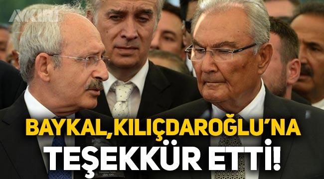 Deniz Baykal, Kemal Kılıçdaroğlu'na teşekkür etti!