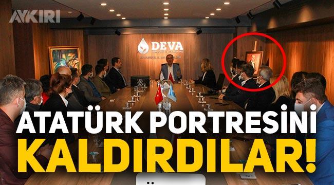 DEVA Partisi'nin İstanbul İl Başkanlığı'ndan Atatürk portresi kaldırıldı