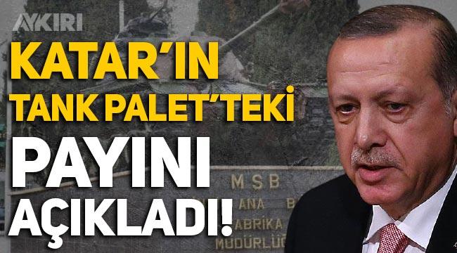 Erdoğan açıkladı: Tank Palet'in yüzde 49'u Katarlıların!