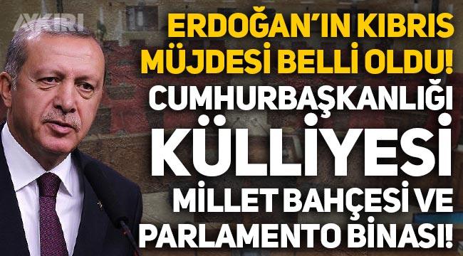 Erdoğan'ın Kıbrıs müjdesi belli oldu: Cumhurbaşkanlığı külliyesi, millet bahçesi ve parlamento binası