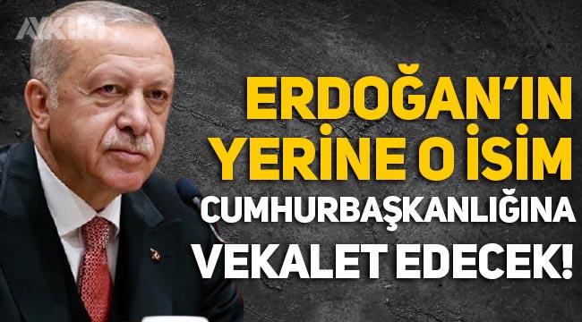 Erdoğan'ın yerine Cumhurbaşkanlığına Fuat Oktay vekalet edecek