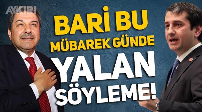 İYİ Partili İbrahim Özkan'dan Tevfik Göksu'ya: Bari bu mübarek günde yalan söyleme