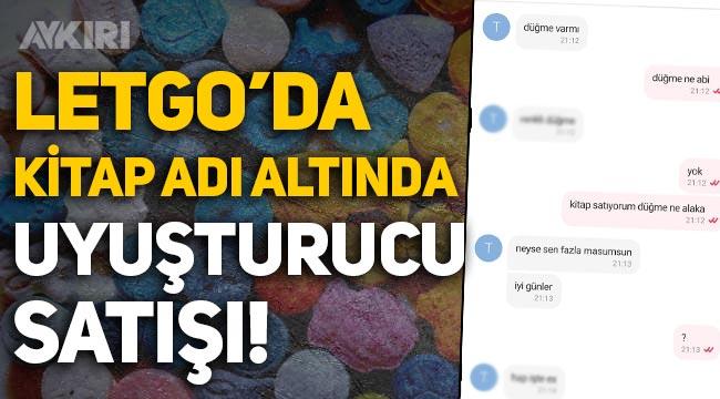 LETGO'da kitap satışı adı altında uyuşturucu ticareti! Skandal mesajlar...
