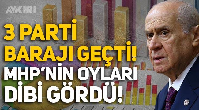 Metropoll anketi: 3 parti barajı geçti, MHP dibi gördü!